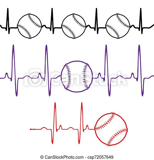Pulse baseball set different colors - csp72057649