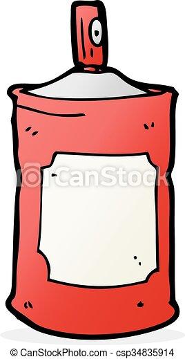 pulvérisation, dessin animé, boîte - csp34835914