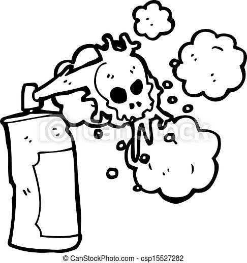 pulvrisation graffiti dessin anim crne bote csp15527282 - Dessin Graffiti