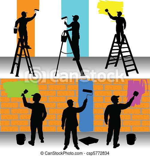 pumák, szín, munkás, különféle - csp5772834