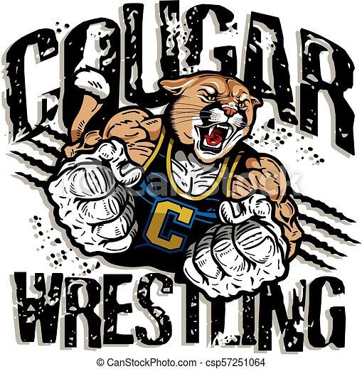 Lucha de Cougar - csp57251064