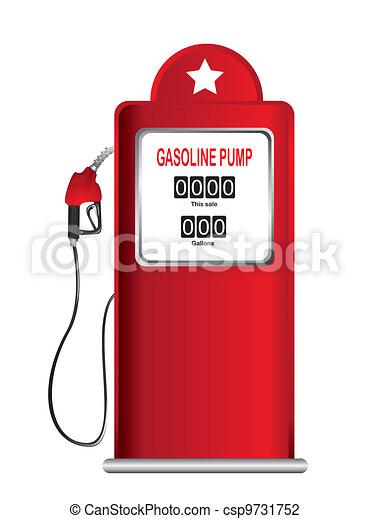 pump, bensin - csp9731752