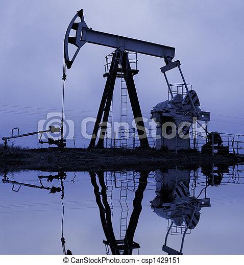 pumpa, ipari, reflectio, olaj - csp1429151