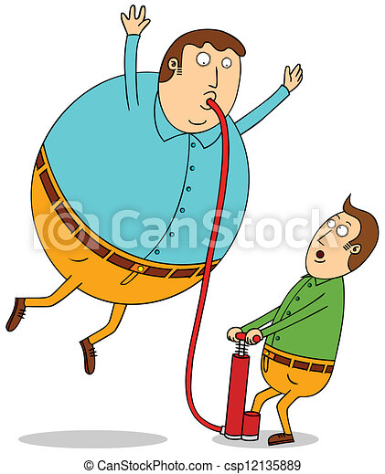 pumping balloon man