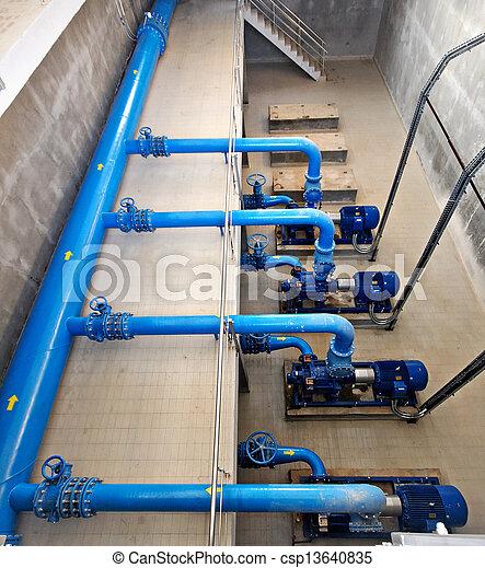 pumping station - csp13640835