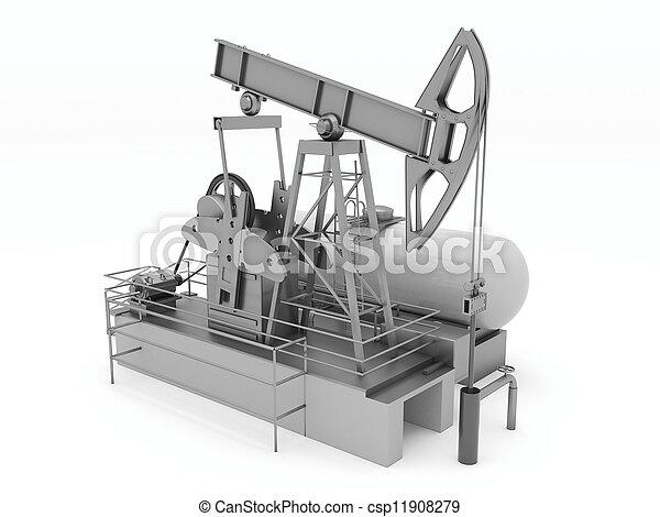 Pumpjack isolated - csp11908279