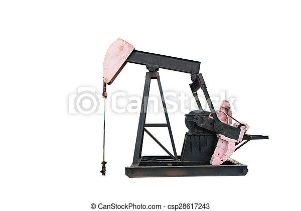 pumpjack isolated - csp28617243