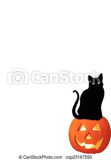 PUMPKIN AND CAT - csp23167593