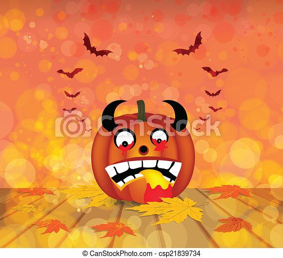pumpkin autumn background - csp21839734