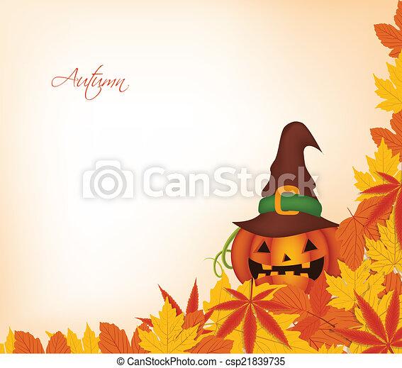 pumpkin autumn background - csp21839735
