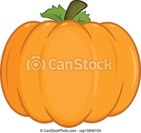 Pumpkin Cartoon Illustration - csp15846104