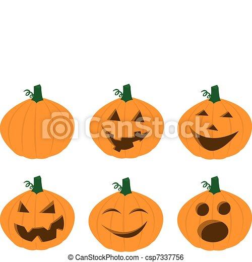 Pumpkin faces csp7337756