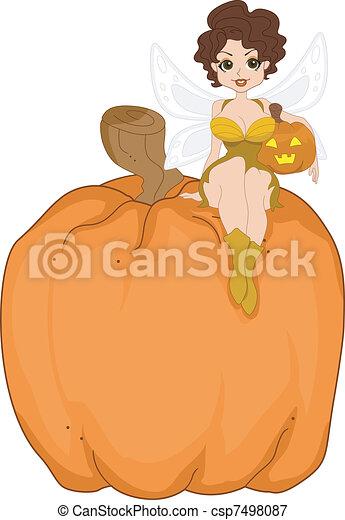 Pumpkin Fairy - csp7498087