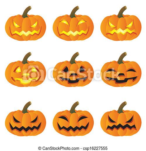 Pumpkin halloween - csp16227555