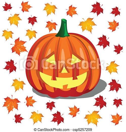 Pumpkin, Halloween - csp5257209