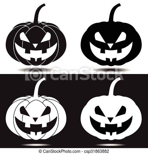 Pumpkin Halloween - csp31863882