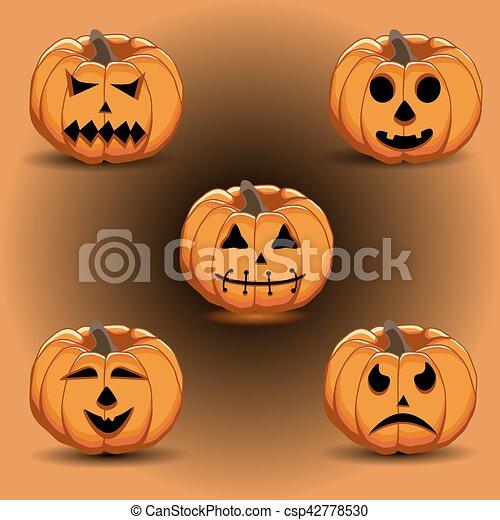 pumpkin halloween - csp42778530