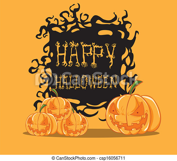 Pumpkin. Halloween monster - csp16056711