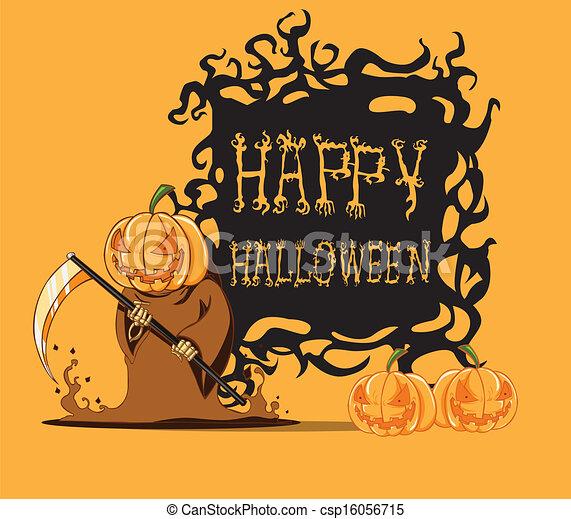 Pumpkin. Halloween monster - csp16056715