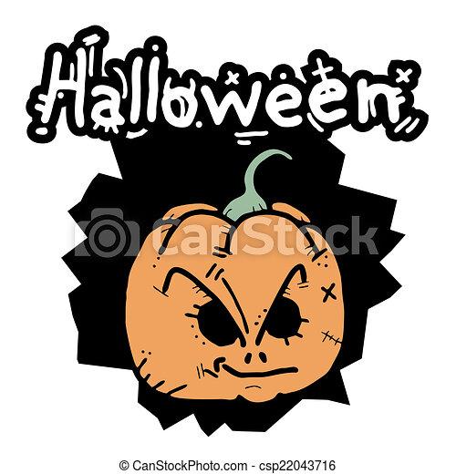Pumpkin halloween - csp22043716
