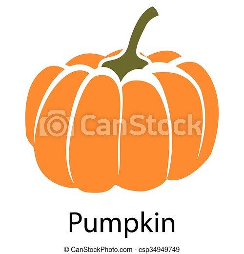 Pumpkin icon - csp34949749