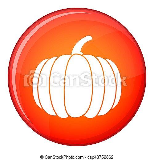 Pumpkin icon, flat style - csp43752862