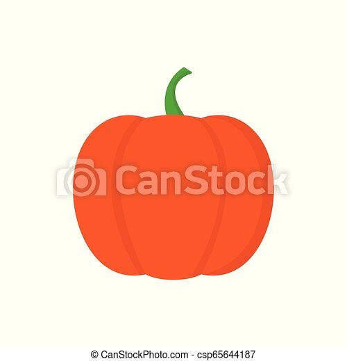 Pumpkin icon on white background for graphic and web design, Modern simple vector sign. Internet concept. Trendy symbol for website design web button or mobile app. - csp65644187