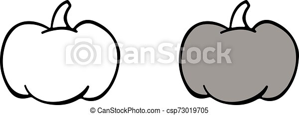 pumpkin icon on white background - csp73019705