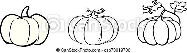 pumpkin icon on white background - csp73019706