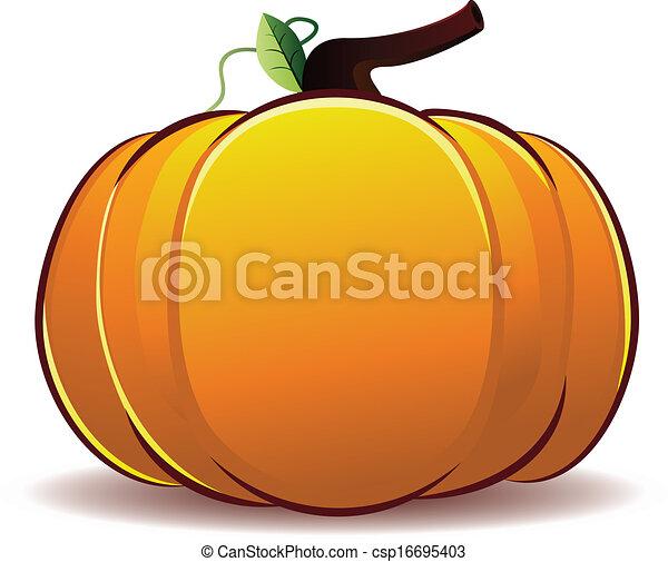 pumpkin illustration big fresh orange pumpkin illustration on white