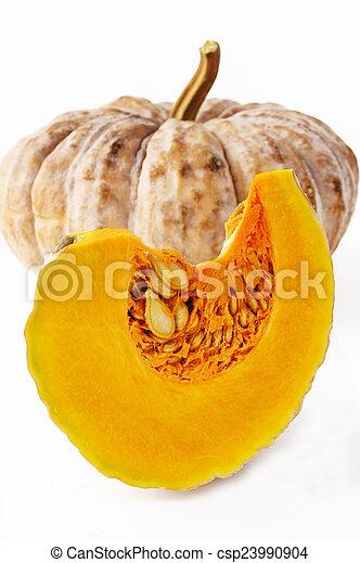 pumpkin on white background - csp23990904