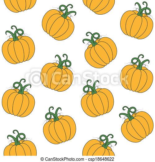 pumpkin pattern yellow pumpkin illustration on white background