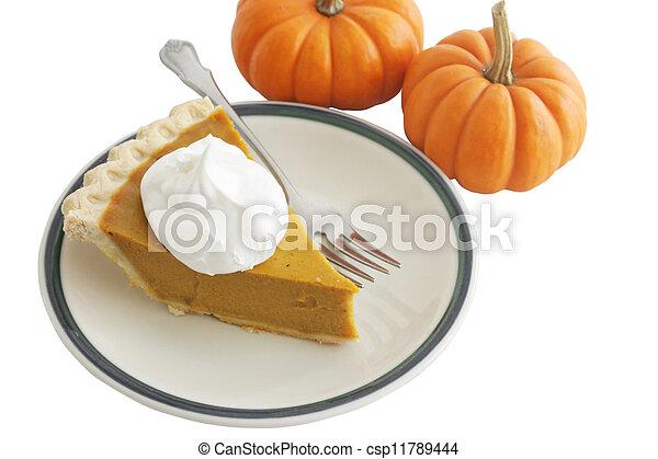 Pumpkin Pie Slice - csp11789444
