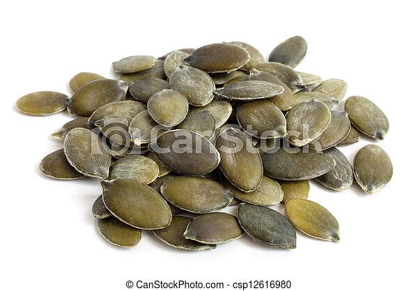 Pumpkin seeds - csp12616980