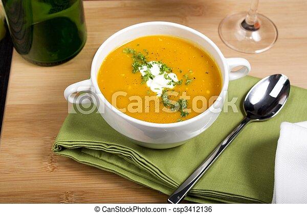 Pumpkin Soup - csp3412136