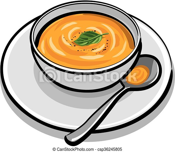 pumpkin soup rh canstockphoto com clip art soup label clip art soup can