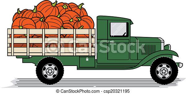Pumpkin Truck - csp20321195