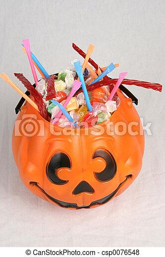 Pumpkin With Candy 2 - csp0076548