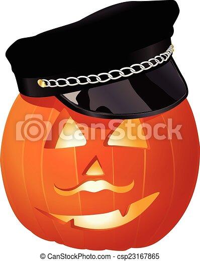 pumpkin with hat - csp23167865