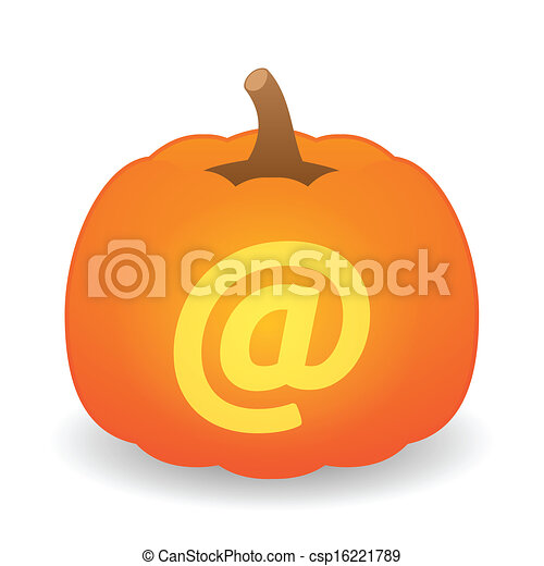 Pumpkin with icon - csp16221789