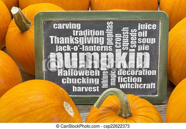 pumpkin word cloud - csp22622373