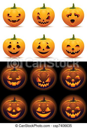 Pumpkins - csp7406635