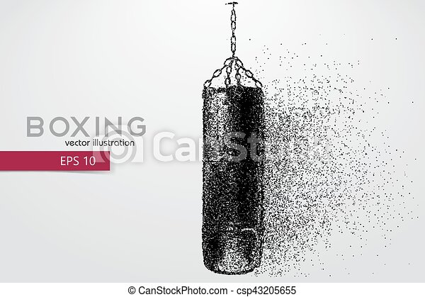 Punching bag from particles. - csp43205655