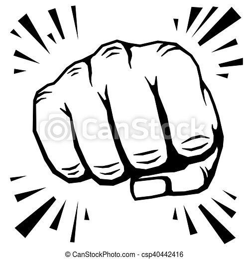 punching fist hand vector illustration human protest symbol rh canstockphoto com hand vectors showing 4 fingers hand vector free download