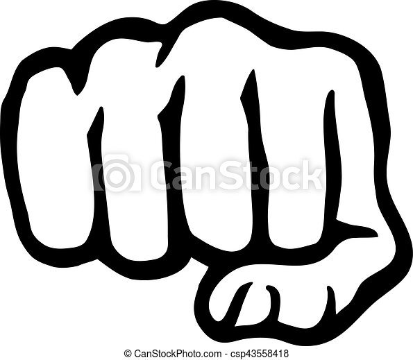 punching hand fist rh canstockphoto com first vector thrust plane fist vector image