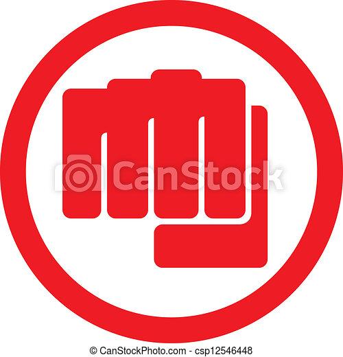 punching), symbole, (human, poing, main - csp12546448
