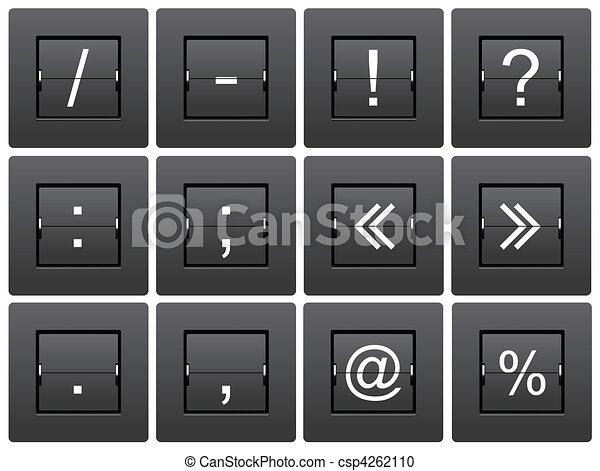 Punctuation marks from mechanical scoreboard - csp4262110