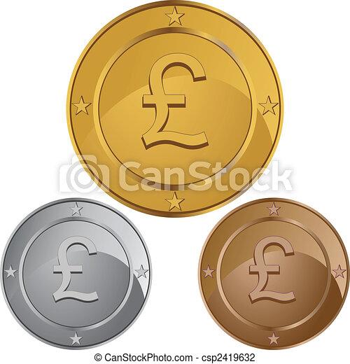 pund, mynt - csp2419632