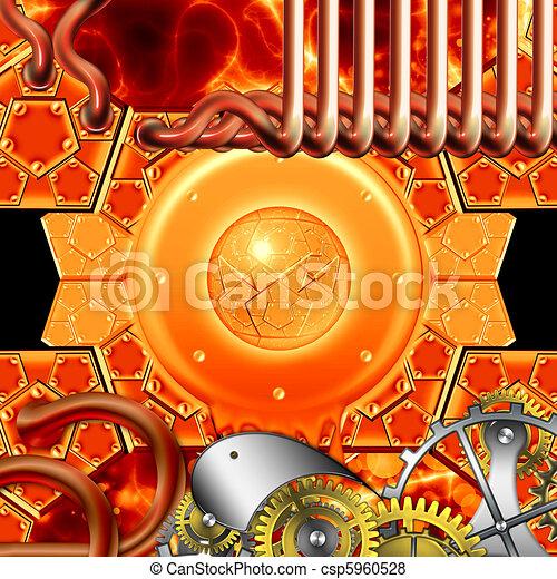 punker, stoom, mechanisme, retro - csp5960528