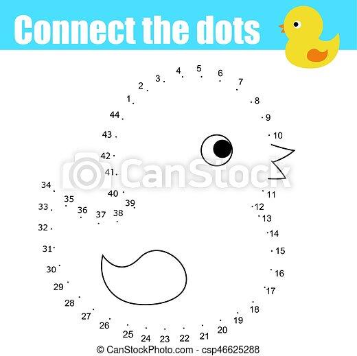 Punkte, pädagogisches spielzeug, tiere, printable, game.,... Vektor ...
